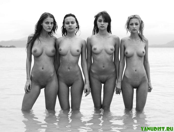 Смешные голые девушки и парни   от бодиарта до грязи