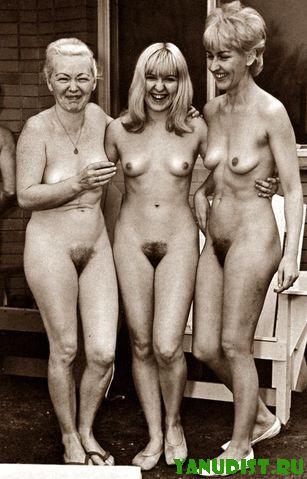 Старинное, черно белое фото нудисточек расскажет истории из жизни