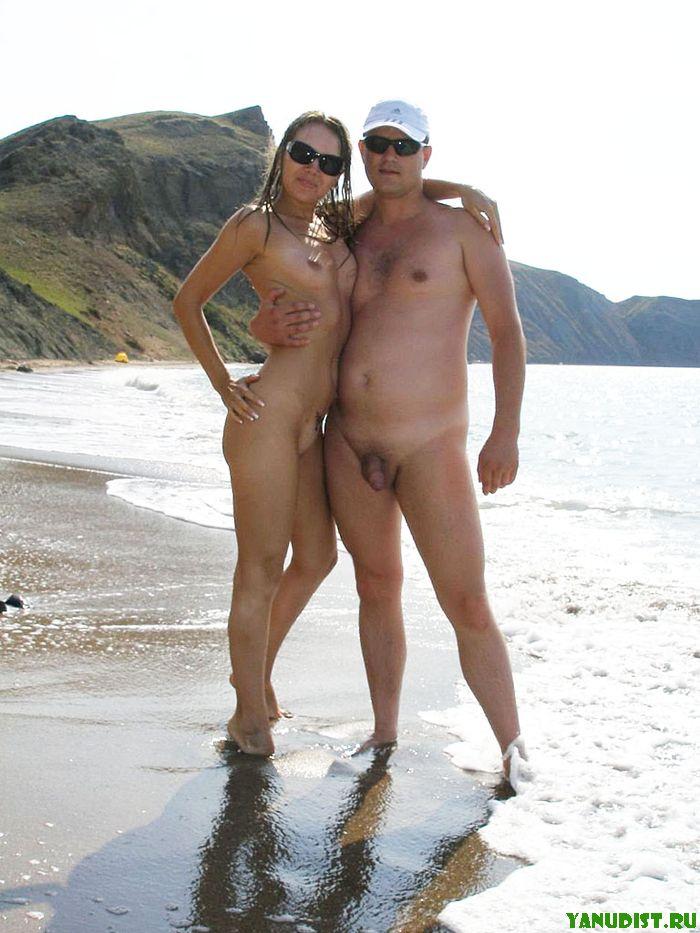 Снова с любимой отправились на нудистский пляж