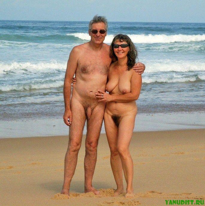 На нудистском пляже вместе с любимой женой    лучшее времяпровождение