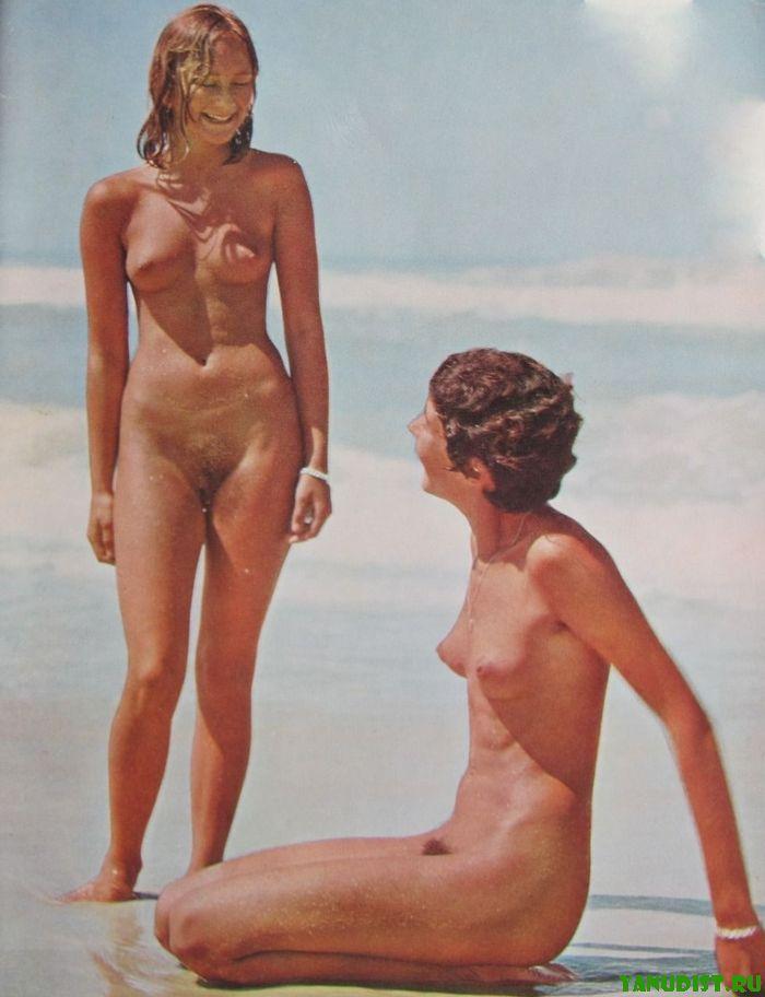 Старинное фото ретро нудистов очень интересное