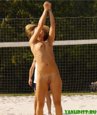 Girls Play Volleyball Naked -